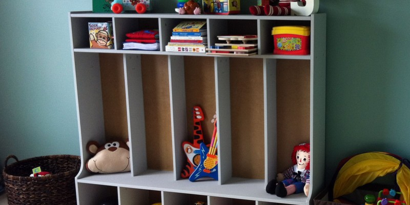 Finished Playroom Storage