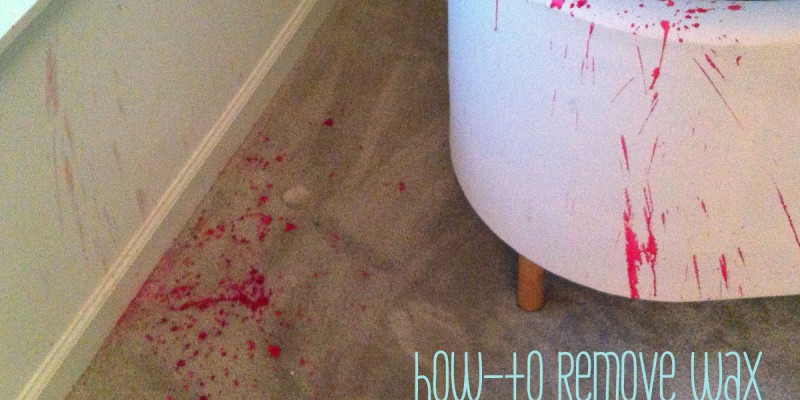 How-To: Remove Wax From Carpet