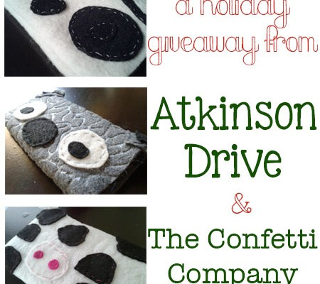 A Giveaway from Atkinson Drive and The Confetti Company