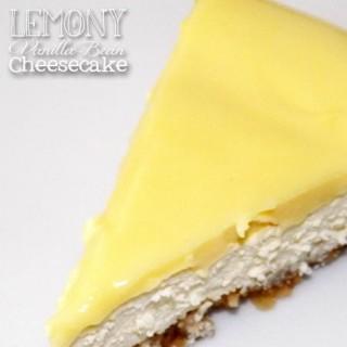 Lemony Vanilla Bean Cheesecake