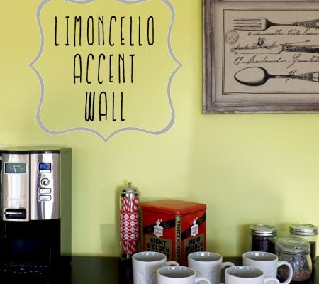A Limoncello Accent Wall