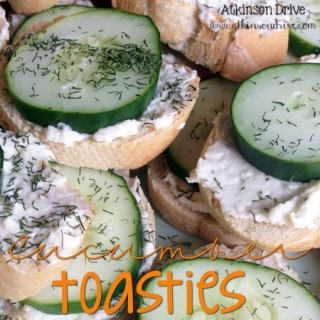 Summertime Appetizer: Cucumber Toasties
