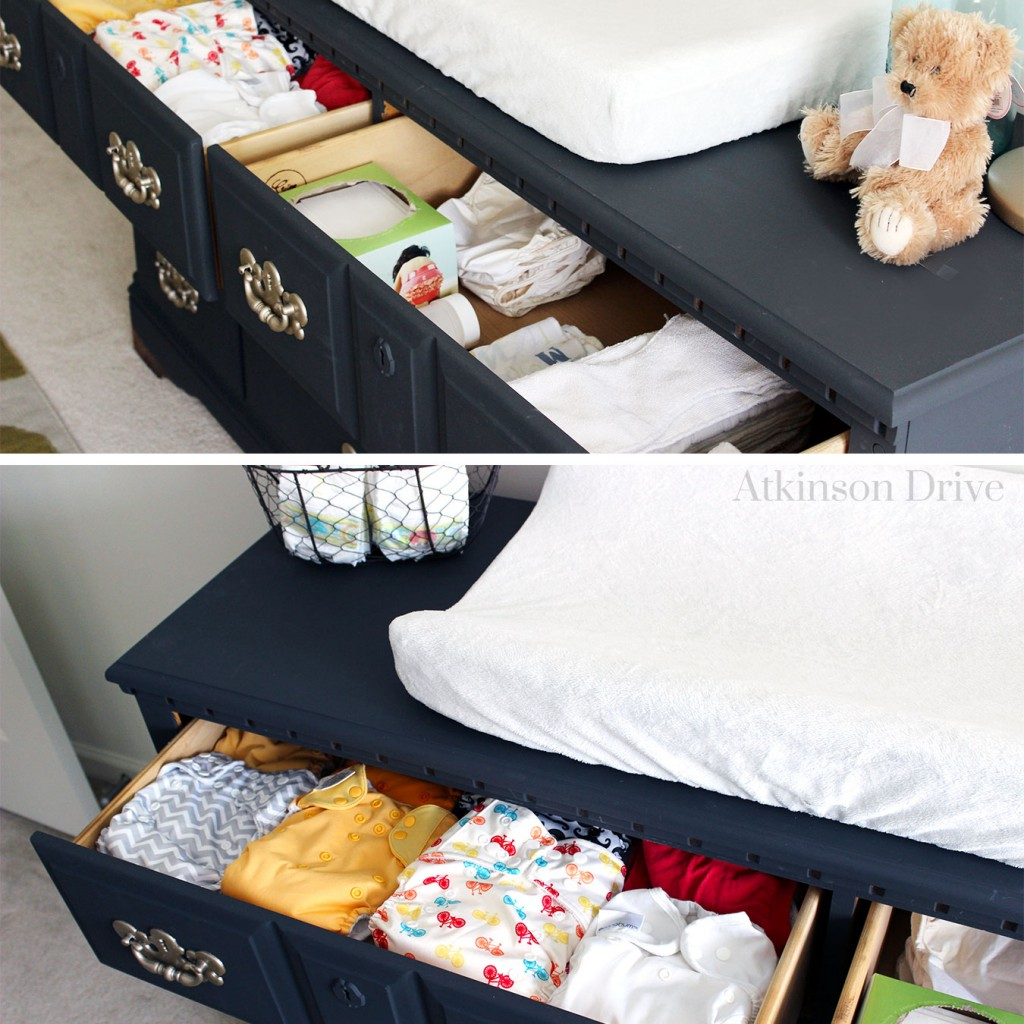 Dresser to Changing Table Upcycle | Atkinson Drive