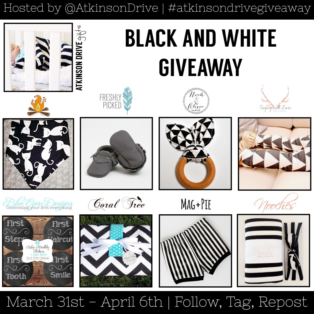 Black and White Baby Gifts Giveaway