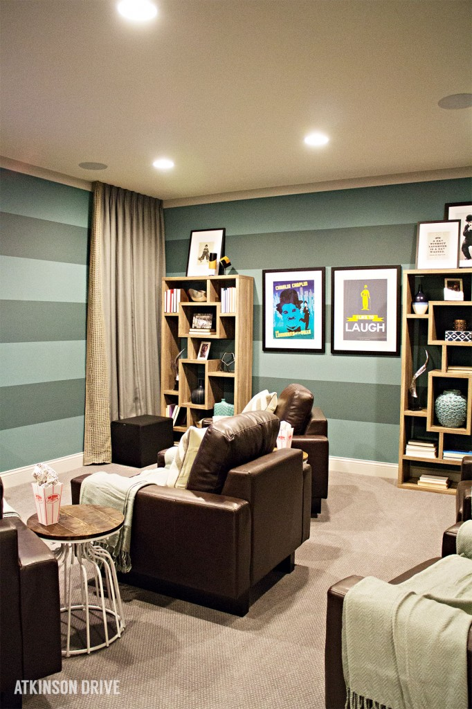 Home-a-Rama 2014: Colorful and comfortable basement media room | Atkinson Drive