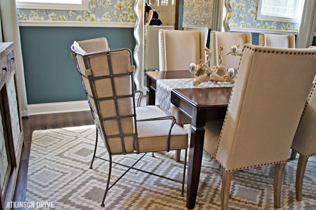 Home-a-Rama 2014: Linen and metal dining chairs for a rustic modern look | Atkinson Drive