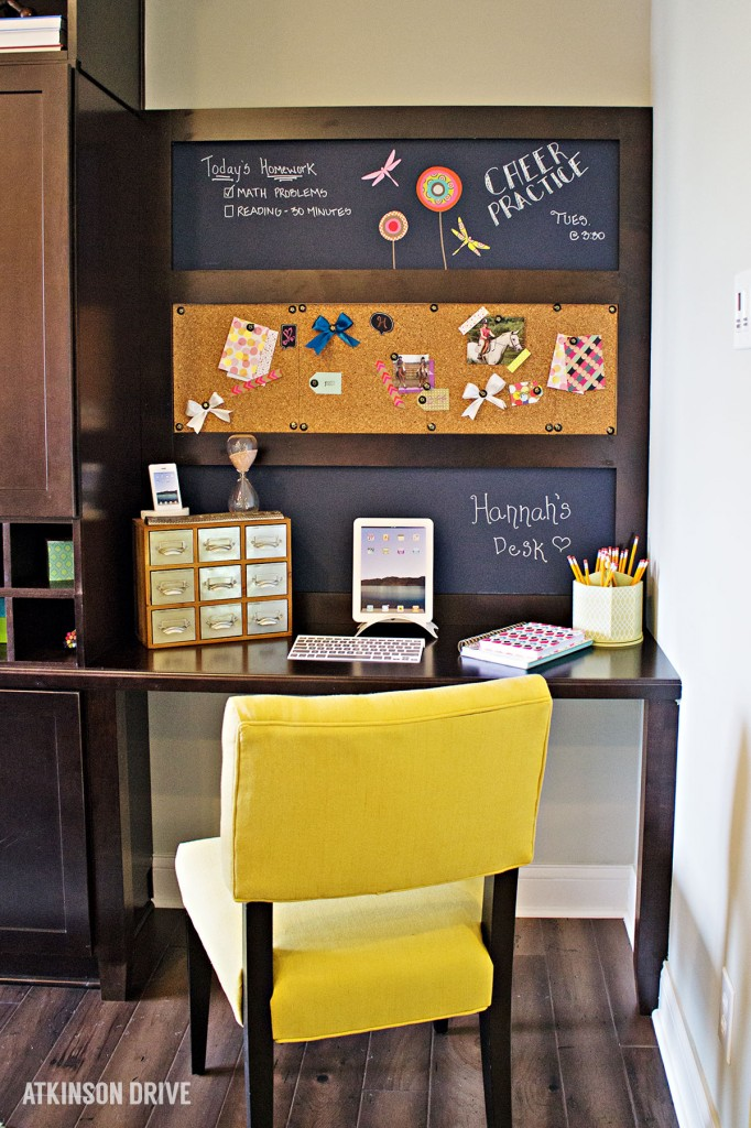 Home-a-Rama 2014: Homework area with chalk and cork boards | Atkinson Drive