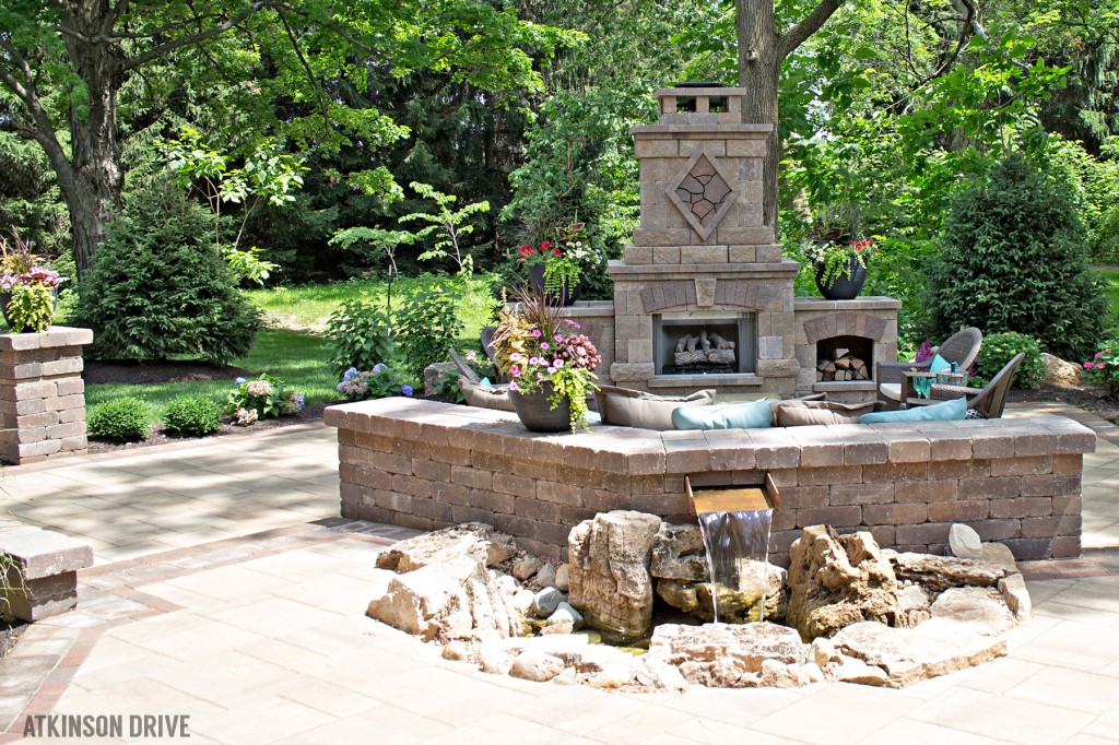 Home-a-Rama 2014: Outdoor patio with fire and water features | Atkinson Drive