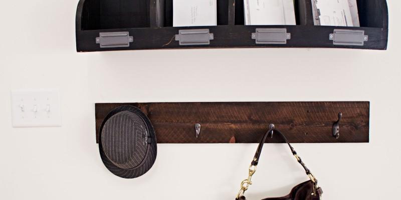 Organized Entry & DIY Wooden Coat Hanger