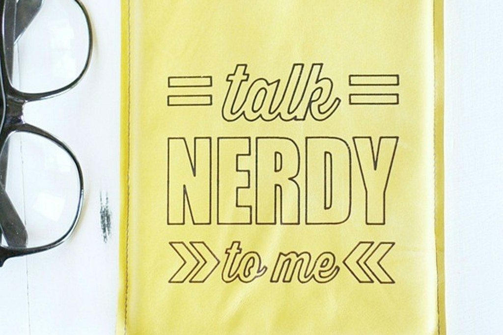 """Talk Nerdy To Me"" DIY Leather Tablet Cover"