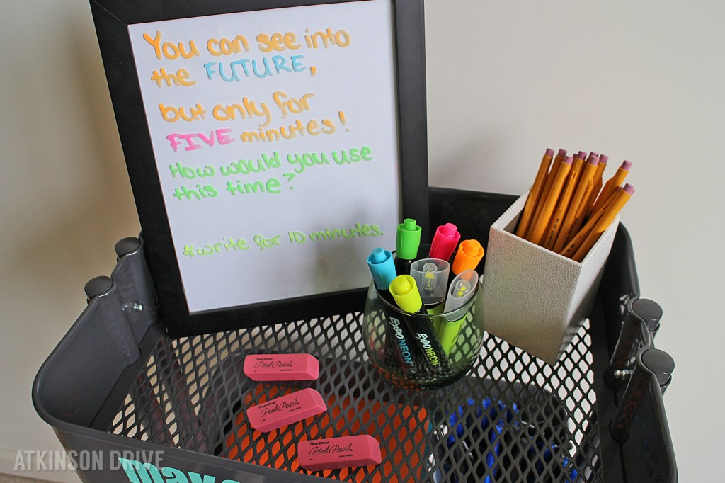 """""""Make Your Mark"""" Creative Writing Station by Atkinson Drive. The perfect creativity station for teachers and moms to encourage original ideas."""