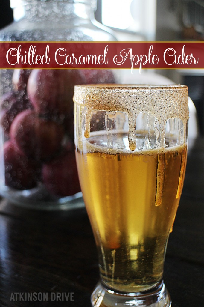 (Grown-Up) Chilled Caramel Apple Cider by Atkinson Drive #fall #cocktail
