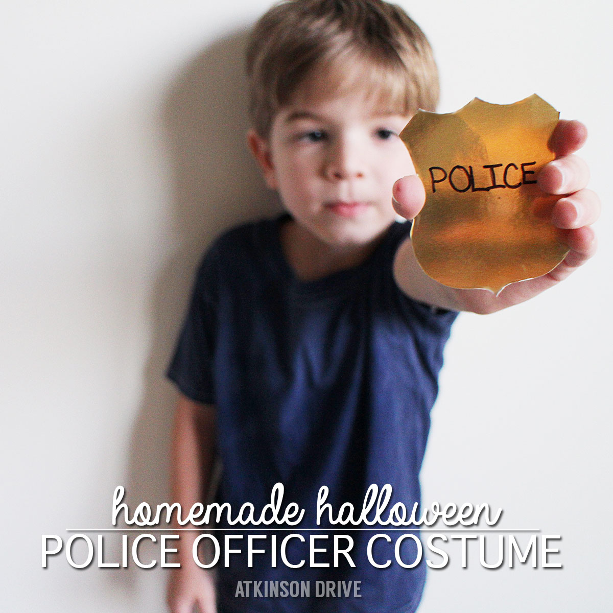 Homemade #Halloween Police Officer #Costume by Atkinson Drive  sc 1 st  Atkinson Drive & Homemade Halloween: Police Officer Costume | Atkinson Drive