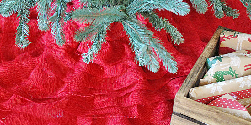 Tiered Burlap Christmas Tree Skirt