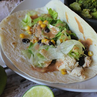 BBQ Ranch Chicken Tacos