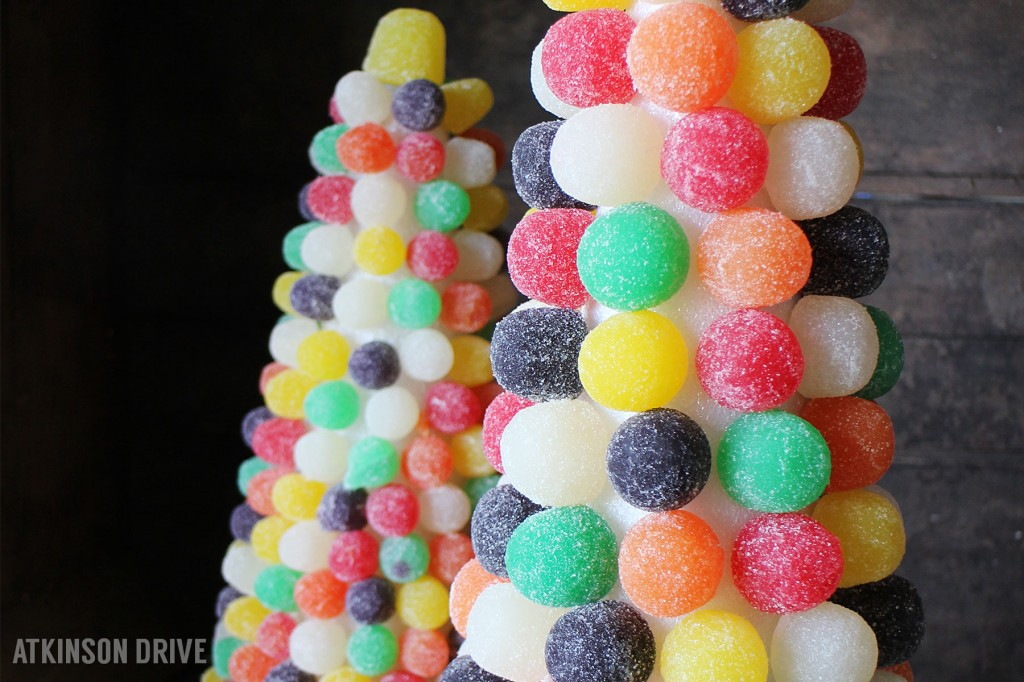 sweeten up your holidays with these bright and colorful gumdrop christmas trees