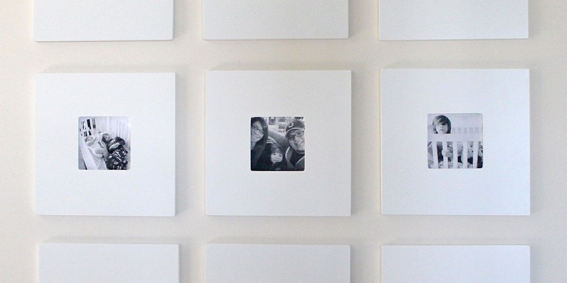 I made this 9-frame black and white gallery wall for less than $20! Keep reading to learn how you can make one, too!